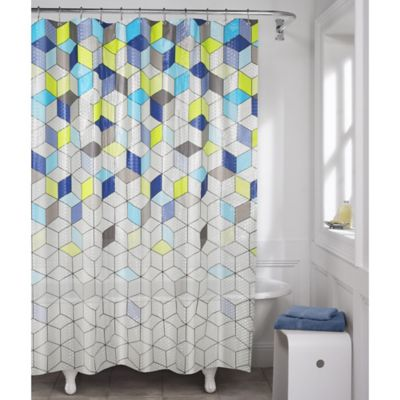 Maytex Aspect Geo Lenticular PEVA Shower Curtain