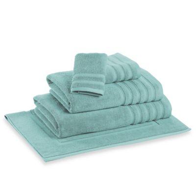 DKNY Luxe Bath Towel in Aqua