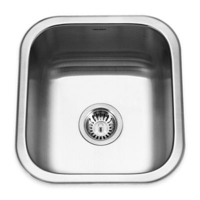 Houzer 32.5-Inch Single Bowl Stainless Steel Undermount Kitchen Sink