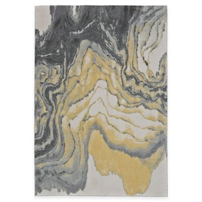 Feizy Farrell Agate 5-Foot x 8-Foot Area Rug in Grey/Yellow