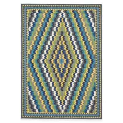 Feizy Caslon Diamonds 2-Foot 10-Inch x 7-Foot 10-Inch Multicolor Runner