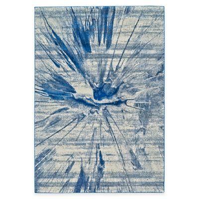 Feizy Caslon Splatter 5-Foot x 8-Foot Area Rug in Cobalt