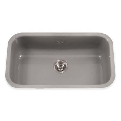 Houzer Porcela Large Undermount Single Bowl Sink in Slate