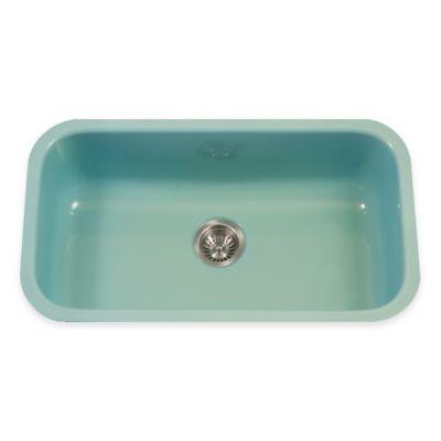 Houzer Porcela Large Undermount Single Bowl Sink in Mint