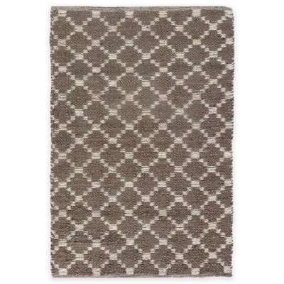 Natural Chenille Geometric 2-Foot x 4-Foot 6-Inch Accent Rug in Grey