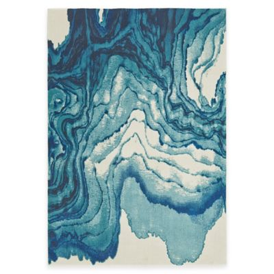 Feizy Caslon Stone 5-Foot x 8-Foot Area Rug in Blue