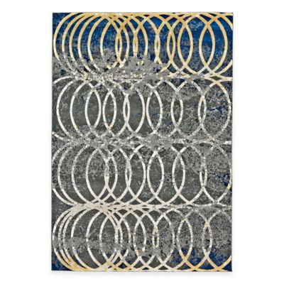Feizy Caslon Settat Circle Lock 5-Foot x 8-Foot Area Rug in Grey