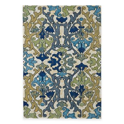 Feizy Caslon Damask 3-Foot x 8-Foot Multicolor Rug