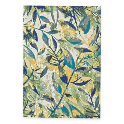 Multi/Leaves Area Rugs