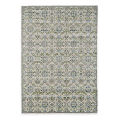 Feizy Landri Floral Medallion 2-Foot 2-Inch x 4-Foot Accent Rug in Taupe