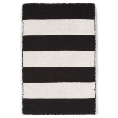 Trans-Ocean Balance 2-Foot x 3-Foot Indoor/Outdoor Area Rug in Black/White
