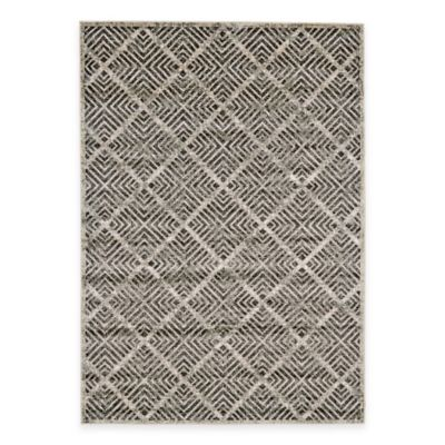 Feizy Landri Diamonds 2-Foot 2-Inch x 4-Foot Accent Rug in Taupe/Grey