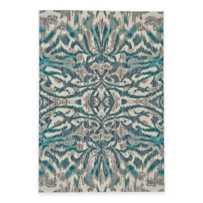 Feizy Keaton Ikat 2-Foot 2-Inch x 4-Foot Accent Rug in Turquoise