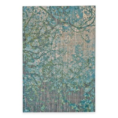 Feizy Keaton Branch 2-Foot 2-Inch x 4-Foot Accent Rug in Blue/Grey