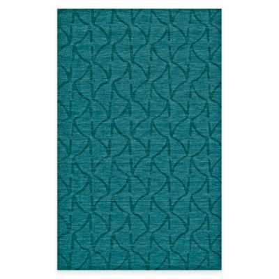 Feizy Crescent Wavy 2-Foot 6-Inch x 8-Foot Runner in Teal
