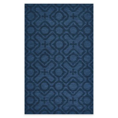 Feizy Crescent Circles 5-Foot x 8-Foot Area Rug in Cobalt
