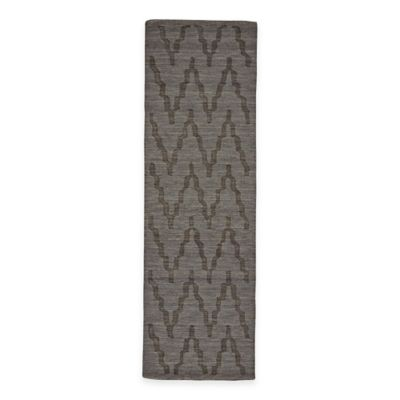 Feizy Crescent Chevron 2-Foot 6-Inch x 8-Foot Runner in Charcoal