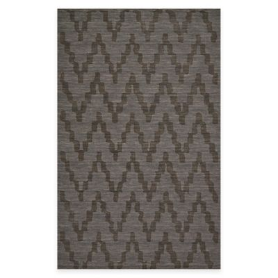 Feizy Crescent Chevron 3-Foot 6-Inch x 5-Foot 6-Inch Area Rug in Charcoal