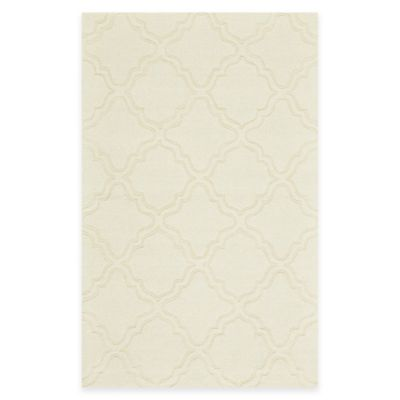 Feizy Crescent Trefoil 3-Foot 6-Inch x 5-Foot 6-Inch Area Rug in Ivory