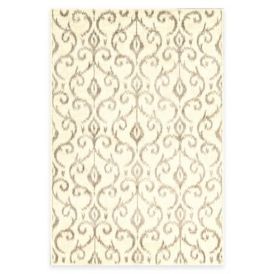 Feizy Settat Scroll 2-Foot 2-Inch x 4-Foot Accent Rug in Grey/Cream