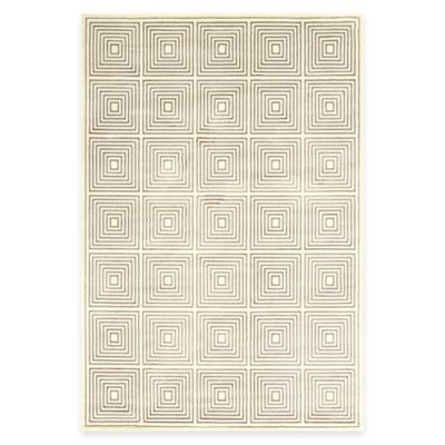 Feizy Settat Squares 2-Foot 2-Inch x 4-Foot Accent Rug in Grey/Cream