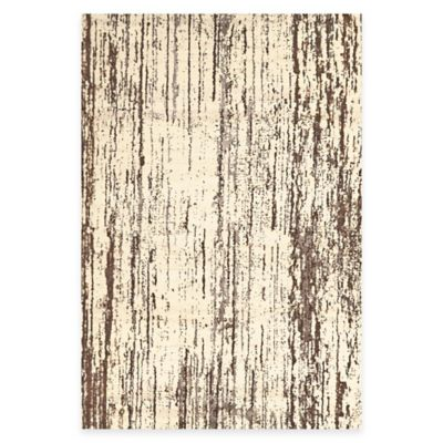 Feizy Settat Lines 2-Foot 2-Inch x 4-Foot Accent Rug in Brown/Cream
