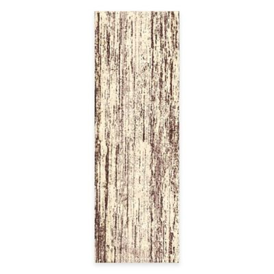 Feizy Settat Lines 2-Foot 10-Inch x 7-Foot 10-Inch Runner in Brown/Cream