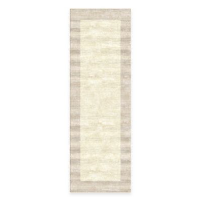 Feizy Settat Border 2-Foot 10-Inch x 7-Foot 10-Inch Runner in Cream/Grey