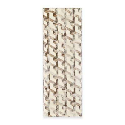 Feizy Settat Geometric 2-Foot 10-Inch x 7-Foot 10-Inch Runner in Silver/Cream