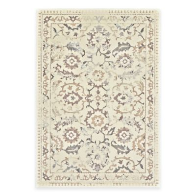 Gray Cream Traditional Rug