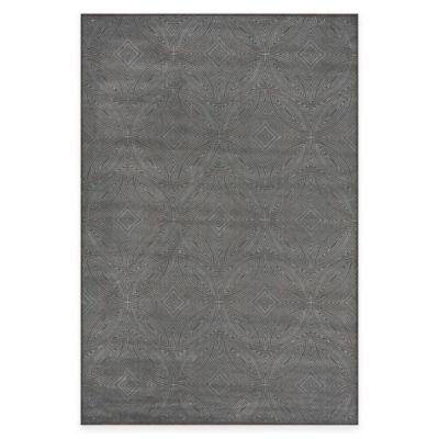 Feizy Settat Diamond Circle 2-Foot 2-Inch x 4-Foot Accent Rug in Dark Grey