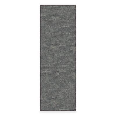 Feizy Settat Diamond Circle 2-Foot 10-Inch x 7-Foot 10-Inch Runner in Dark Grey