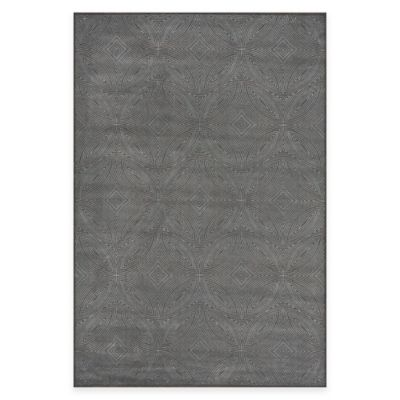 Feizy Settat Diamond Circle 2-Foot 10-Inch x 7-Foot 10-Inch Runner in Dark Grey
