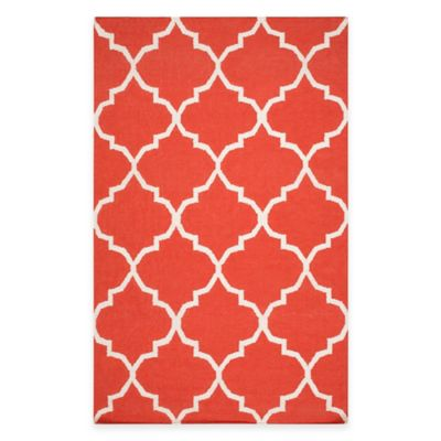 Artistic Weavers York Mallory 4-Foot x 6-Foot Area Rug in Coral