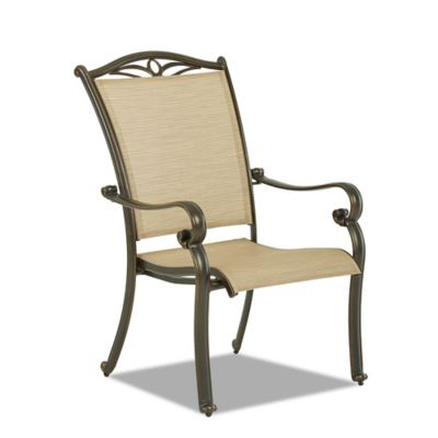 Klaussner Verona Outdoor Dining Arm Chairs (Set of 4)