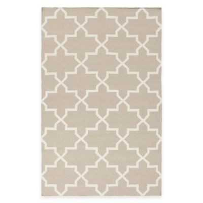 Feizy York Reagan 9-Foot x 12-Foot Area Rug in Beige/White
