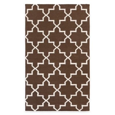 Feizy York Reagan 9-Foot x 12-Foot Area Rug in Brown/White