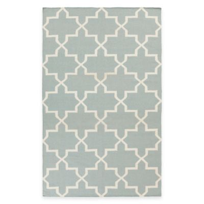 Feizy York Reagan 9-Foot x 12-Foot Area Rug in Light Blue/White