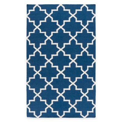 Feizy York Reagan 9-Foot x 12-Foot Area Rug in Blue/White