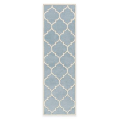 Artistic Weavers Transit Piper 2-Foot 3-Inch x 14-Foot Runner in Light Blue
