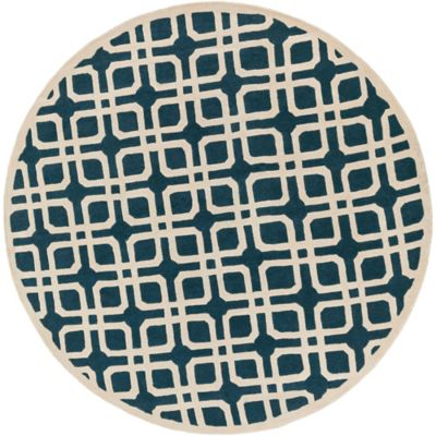 Artistic Weavers Transit Madison 3-Foot 6-Inch Round Area Rug in Blue