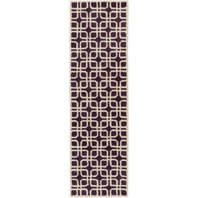 Artistic Weavers Transit Madison 2-Foot 3-Inch x 8-Foot Runner in Purple