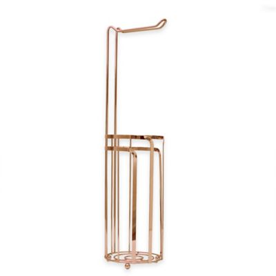 Monaco Toilet Paper Stand in Rose Gold