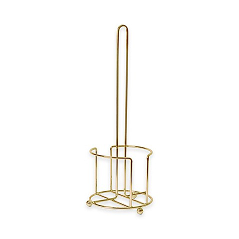 buy lexington toilet paper holder in gold from bed bath