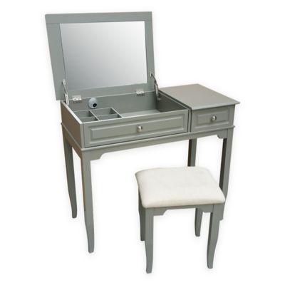 Grey Vanity Stool