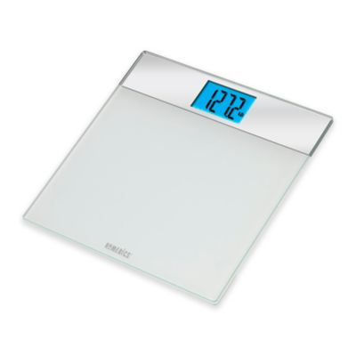 HoMedics® White/Mirrored Glass Digital Bath Scale