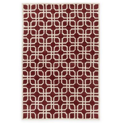 5-Foot x 8-Foot Red Area Rug