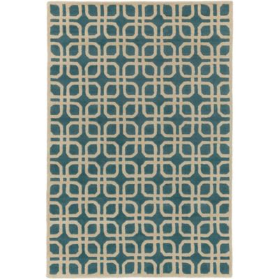 Artistic Weavers Transit Madison 6-Foot x 9-Foot Area Rug in Teal