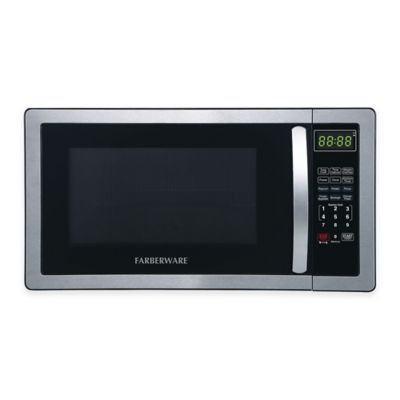 Stainless Steel Black Microwave Oven