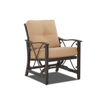 Klaussner Apollo Outdoor Spring Motion Arm Chairs (Set of 2)
